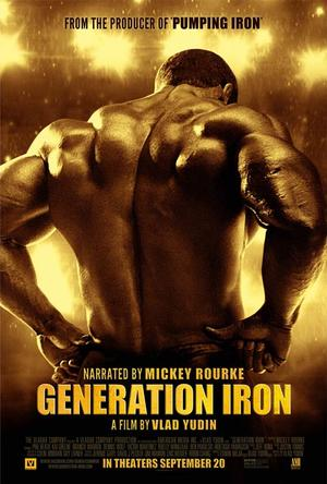 "Poster art for ""Generation Iron."""