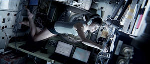 "Sandra Bullock as Ryan Stone in ""Gravity."""