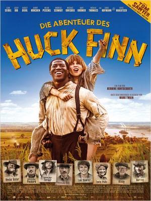 "Poster art for ""The Adventures of Huck Finn."""