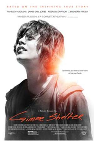 "Poster art for ""Gimme Shelter."""
