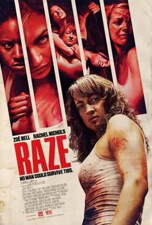 "Poster art for ""Raze."""