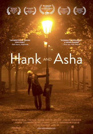 "Poster art for ""Hank and Asha."""