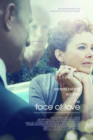 "Poster art for ""The Face of Love."""