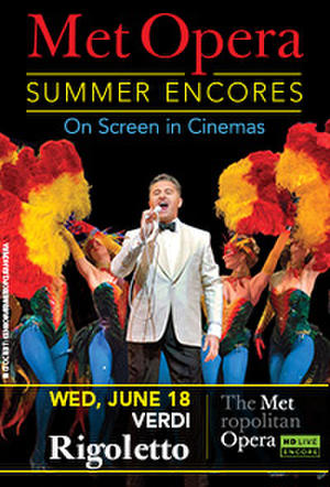 "Poster art for ""Met Summer Encore - Rigoletto."""