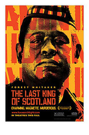 """Poster art for """"The Last King of Scotland."""""""