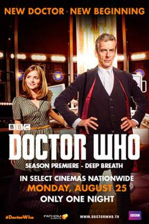"""Poster art for """"Doctor Who Season Premiere."""""""