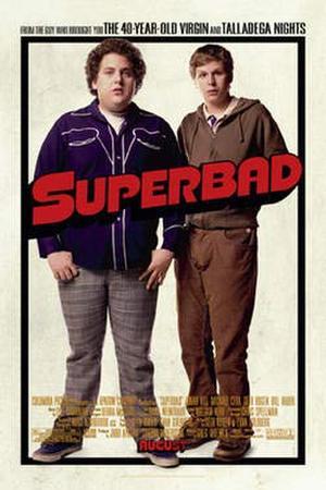 "Poster art for ""Superbad."""