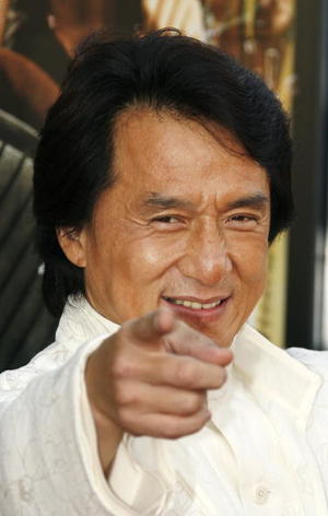 """""""Rush Hour 3"""" star Jackie Chan at the Hollywood premiere."""