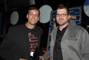"Producer Ed Cunningham and director Seth Gordon at the after party of the Hollywood premiere of ""The King of Kong: A Fistful of Quarters."""