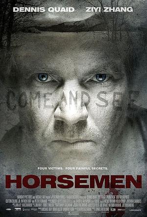 """Poster art for """"Horsemen."""""""