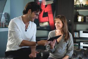 "Rodrigo Santoro as David and Alexis Bledel as Ryden in ""Post Grad."""