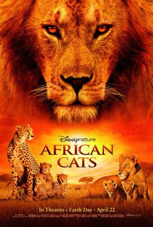"""Poster art for """"African Cats: Kingdom of Courage."""""""