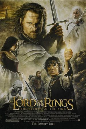 "Poster art for ""Lord of the Rings: Return of the King"""