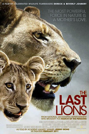 "Poster art for ""The Last Lions"""