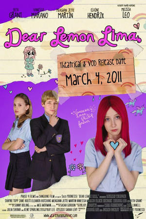 """Poster art for """"Dear Lemon Lima"""""""