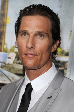 "Matthew McConaughey at the California premiere of ""The Lincoln Lawyer."""