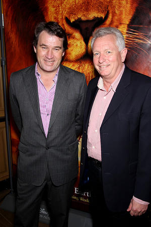 "Director Alastair Fothergill and director Keith Scholey at the New York premiere of ""African Cats."""