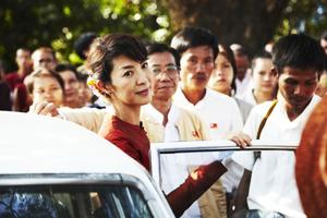 "Michelle Yeoh in ""The Lady."""