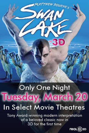 "Poster art for ""Matthew Bourne's Swan Lake in 3D."""