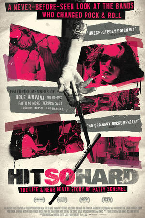 """Poster art for """"Hit So Hard."""""""