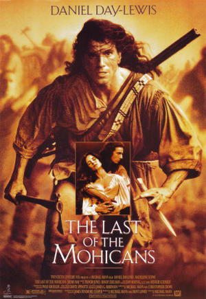 "Poster art for ""The Last of the Mohicans."""