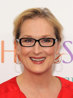 "Meryl Streep at the New York premiere of ""Hope Springs."""