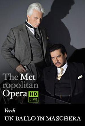 "Poster art for ""The Metropolitan Opera: Un Ballo in Maschera."""