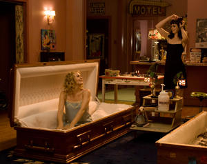 "Alicia Silverstone and Krysten Ritter in ""Vamps."""