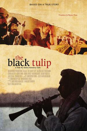 "Poster art for ""The Black Tulip."""