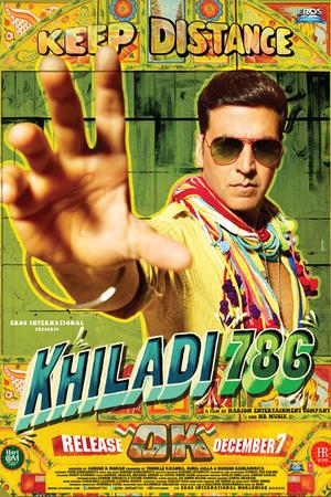 """Poster art for """"Khiladi 786."""""""