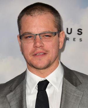 "Matt Damon at the California premiere of ""Promised Land."""