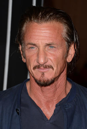 "Sean Penn at the California premiere of ""Gangster Squad."""