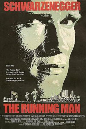 "Poster art for ""The Running Man."""