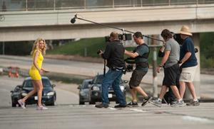 "Behind the scenes of ""Walk of Shame."""