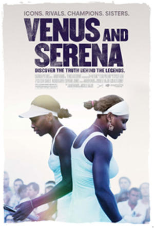 "Poster art for ""Venus and Serena."""