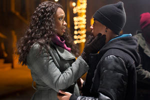 "Jennifer Hudson and Jacob Latimore in ""Black Nativity."""