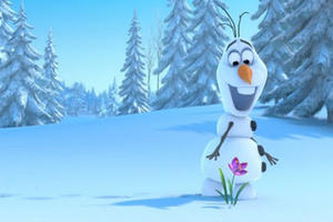 """A scene from """"Frozen 3D."""""""