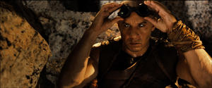 "Vin Diesel as Riddick in ""Riddick."""