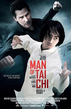 "Poster art for ""Man of Tai Chi: The IMAX Experience."""
