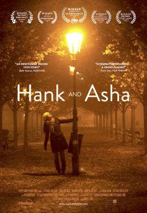 "Poster art for ""Hank and Asha."""