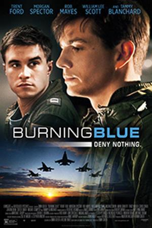 """Poster art for """"Burning Blue"""""""