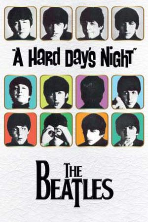"""Poster art for """"A Hard Day's Night."""""""
