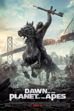 "Poster art for ""Dawn of the Planet of the Apes 3D."""