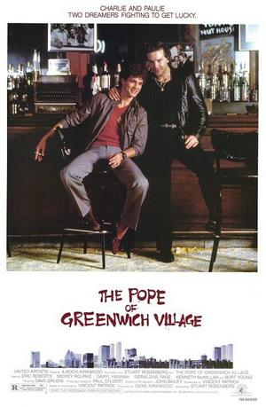 "Poster art for ""The Pope of Greenwich Village."""