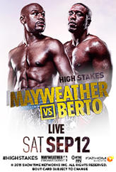 Mayweather vs. Berto Live showtimes and tickets
