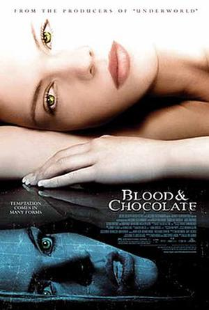 """Poster art for """"Blood and Chocolate."""""""