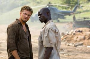 "Leonardo DiCaprio and Djimon Hounsou in ""Blood Diamond."""