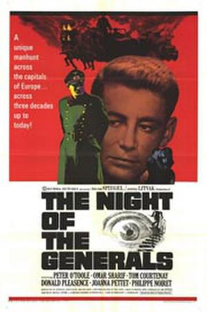 "Poster art for ""The Night of the Generals."""