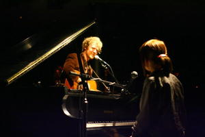 """Once"" stars Glen Hansard and Markéta Irglová perform at the comp. filmmaker party at the Tribeca Film Festival in N.Y."
