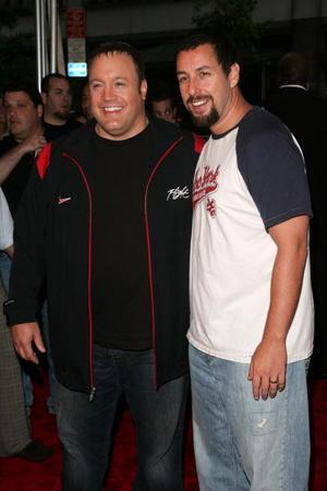 """""""I Now Pronounce You Chuck And Larry"""" stars Kevin James and Adam Sandler at the N.Y. premiere."""
